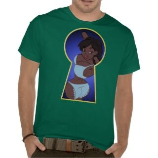 Cartoon Pin Up Keyhole T Shirt