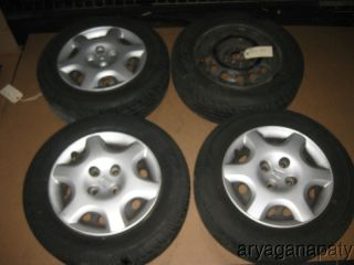 Integra Del Sol Wheels Rims Blackies with EX Hub Wheel Caps 14