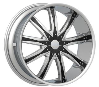 5x127 5x135 Chrome Black Rims Wheels 24 Tahoe Blazer Caprice