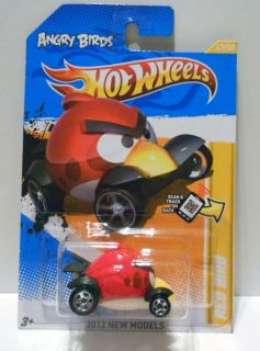 Hot Wheels 2012 New Models 47 Angry Birds Red Bird Mint on Card