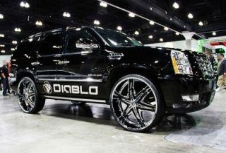30 Diablo Wheels and Tires Pkg for for Chevy Ford Dodge RAM Rim Tahoe