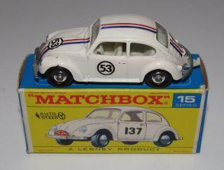 RARE Matchbox Regular Wheels No 15 VW Beetle Herbie The Love Bug