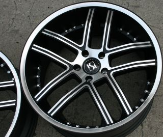 INTAKE 20 BLACK RIMS WHEELS G35 G37 STAGGERED / 20 X 8.5/10 5H +35