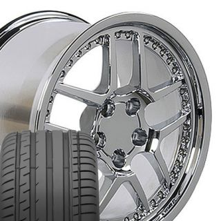 18 17 Chrome Fits Corvette Z06 Camaro C5 C4 Wheels Tires