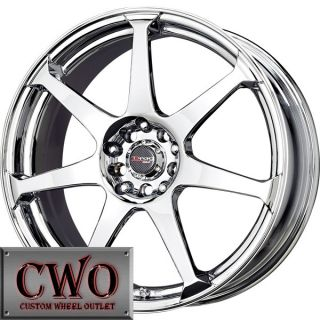 17 Chrome Drag Dr 33 Wheels Rims 5x112 5 Lug Audi A4 Jetta Rabbit