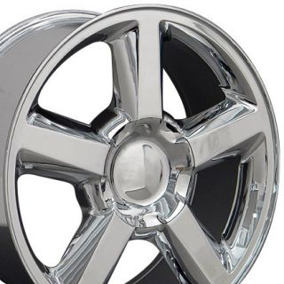 22 Tahoe Wheels Chrome 22x9 Rims Fit Chevrolet GMC Cadillac