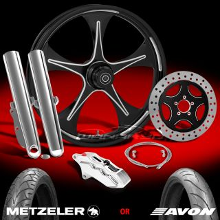 Stratos Eclipse 21 Front Wheel, Tire & Single Disk Kit for 2000 13