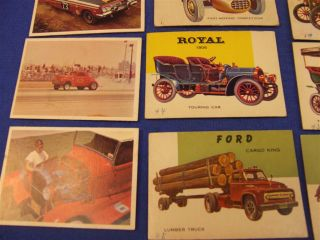 Lot of 42 Vintage Topps World on Wheels Car Trading Cards Hot Rod