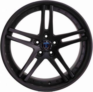 19 Rohana Staggered Wheels 5x114 3 Matte Black Rim Fits Nissan 350Z