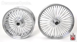 Chrome Fat Mammoth Wheels 21x3 5 18x8 5 48 Spokes 250 Wide for