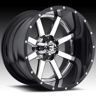 20x12 Chrome Fuel Maverick Wheels 6x135 6x5.5  44 Lifted TOYOTA 4