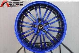 17X7.5 G LINE G820 WHEEL 5X100 +38 BLACK BLUE RIM FITS CELICA COROLLA