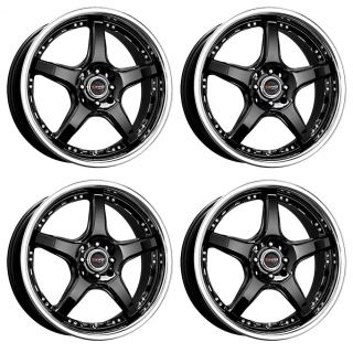 18 Drag DR18 Gun Metal Wheels Rims 4x100 114 3 4LUGS