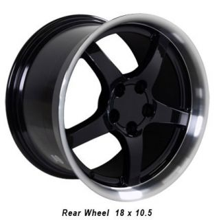 17 18 9 5 10 5 Black C5 Deep Dish Wheels Rims Fit Camaro Corvette