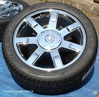 Cadillac Escalade 22 Factory Chrome Wheels with Tires New