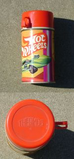 Hot Wheels Lunch Box Thermos 1969 Mattel Complete Clean produced by