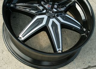 KARIZZMA DRACO KR11 22 BLACK RIMS WHEELS ACURA TL 09 up / 22 x 8.5 5H