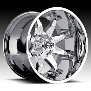 Fuel Off Road Chrome Wheels 20 x 12 Octane F250 F350 Superduty 4x4