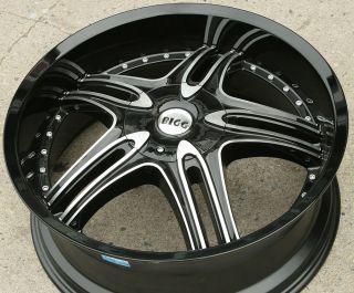 Bigg Assett 516 22 Black Rims Wheels Ford Fusion Flex Mustang 22 x 8