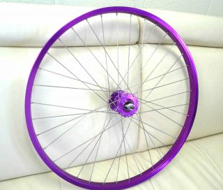27 x 1 1/4 Free Wheels Single Spd BMX Bike Bicycle Purple Front Rear