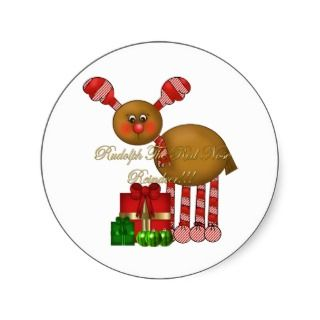 Sticker Rudolph the Red Nose Reindeer