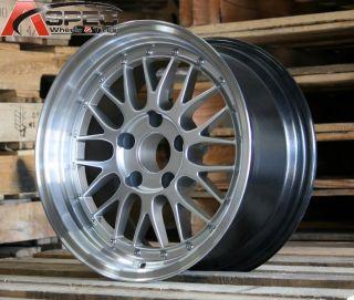 16x8 Varrstoen V4 5x114 3 25 Silver Wheel Fit MR2 Scion TC XB Civic SI