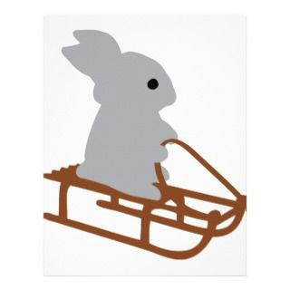 nice rabbit with toboggan icon personalized letterhead