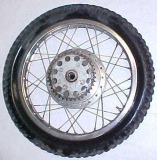 65 68 Honda CL77 305 Scrambler Rear Wheel Rim Tire