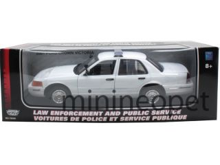 Motormax 2001 Ford Crown Victoria Unmarked Police Car 1 18 White