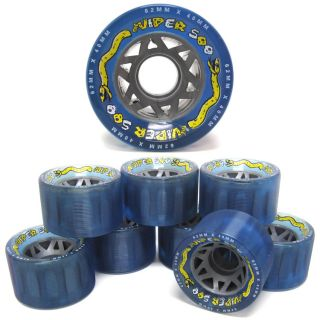 Viper 500 Ice Light Blue Quad Speed Roller Skate Wheels   8 Count Set