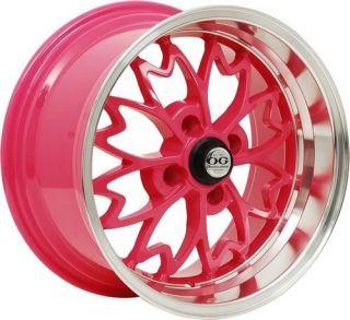 OG Sakura 15x8 4x100 25 Offset Pink Honda Acura Wheels Rims