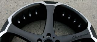 DALAR 5 22 BLACK RIMS WHEELS CHRYSLER 300 300C AWD / 22 X 9.0 5H +38