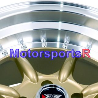 16 16x8 XXR 002 Gold Rims Wheels Stance Deep Dish 89 90 91 Mazda RX7 5