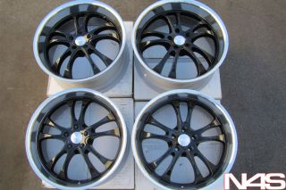 20 Infiniti G35 Coupe adr Sterling Black Wheels Rims
