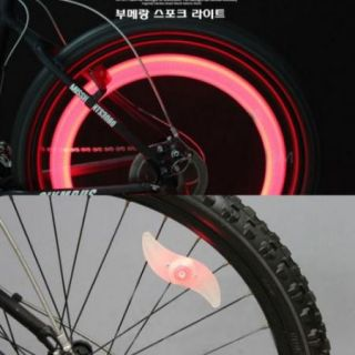 Bicycle Super Spoke Wire Tyre Light Red LED Lamp Hot Wheels