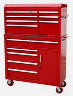 12 Drawer Rolling Metal Toolbox Cabinet 42X18 Tool Chest Box Combo