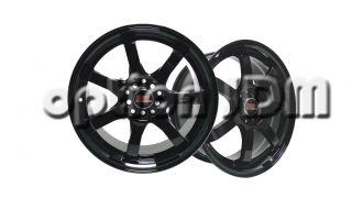 GP Racing Wheels GR3 Hyper Black Mugen GP Replica 15x6 5 8x100 114 3