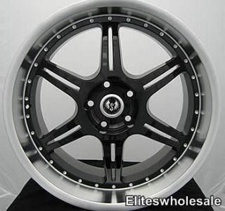 18x8 5 Black ST2 Wheels Rims 5x110 HHR G6 Saab New