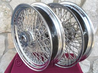 16X3.5 80 SPOKE FRONT & REAR WHEEL SET FOR HARLEY ROAD KING