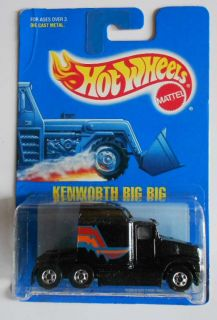 Hot Wheels Blue Card 76 Kenworth Big Rig Semit Truck Black w BWs Mint