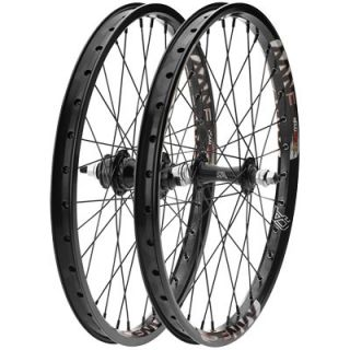 Free Agent 20 BMX Front Rear Wheels 3 8 16T SEALED Bearing Black