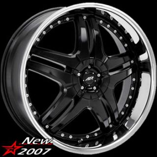 22x9 5 Black Burn Wheels Rims 5x5 5x5 5