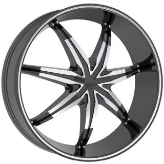 22x9 Black Rev 946 Wheels 5x115 5x5 15 Chevrolet Astro Impala SS Tahoe