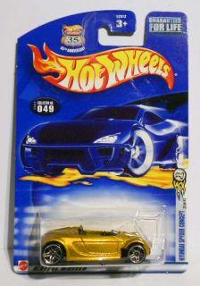 Hot Wheels 2002 49 First Ed Hyundai Spyder Concept Gold w PR5s Mint