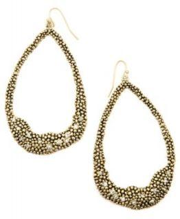 Vince Camuto Earrings, Gold tone Glass Hoop Earrings   Fashion Jewelry