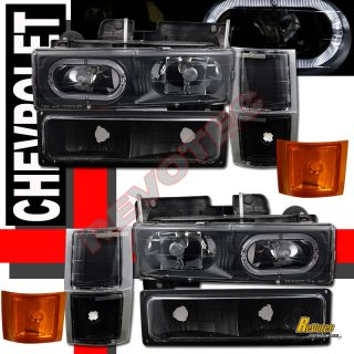 94 99 Chevy CK Tahoe Suburban Halo Headlights Signal 98