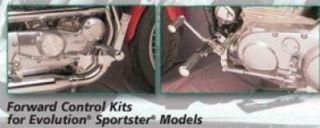 Chrome Forward Controls for Harley EVO Sportster 86 90