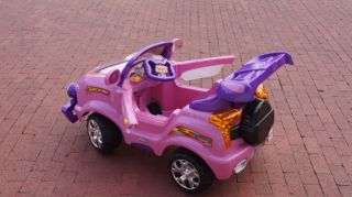 KIDS PINK REMOTE CONTROL RIDE ON CAR RIDE ON POWER 6V WHEELS FREE SHIP