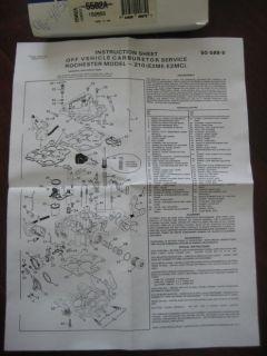 80 81 82 83 84 85 Chevy 231 3 8L V6 267 Engine Carb Kit