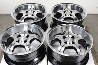 Polished Low Offset 25 4 Lug Wheels Integra Scion Xb Civic Yaris Rims